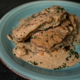 Orloff de porc sauce crème champignons - Meatbros