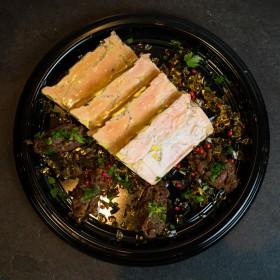 Foie gras maison, gelée & confit d'oignons - Meatbros