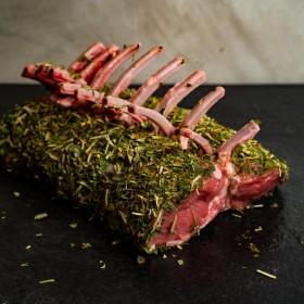 Couronne d'agneau en croute d'herbes - Meatbros