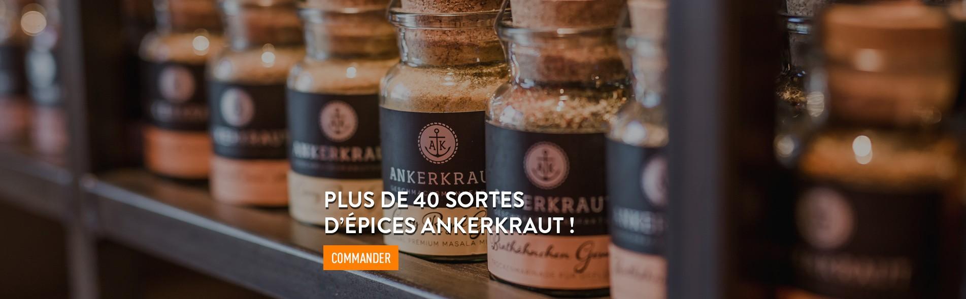 Meatbros une sélection de plus de 40 sortes d'épices Ankerkraut